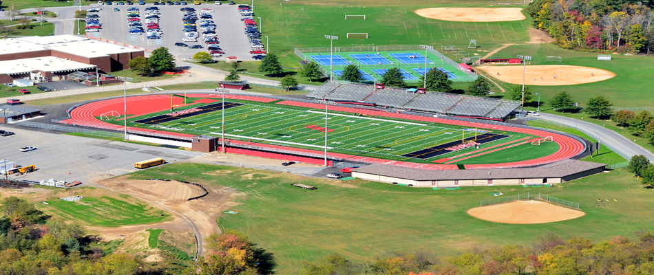 Football Stadium Aerial Photography, Clearfield PA – NEPA Aerial Photography