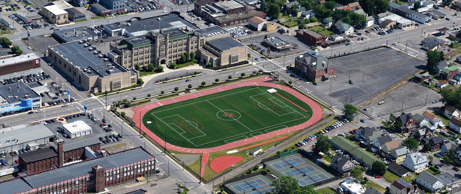 New Field At Scranton Prep School, Scranton PA – NEPA Aerial Photography