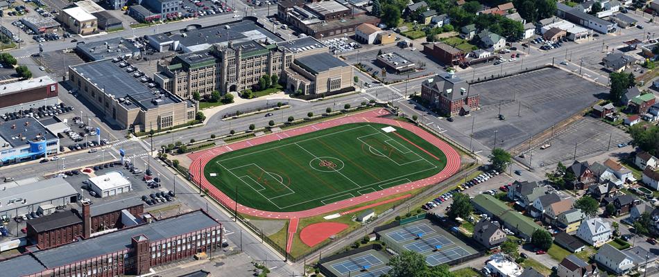 New Field At Scranton Prep School, Scranton PA – NEPA Aerial Photography