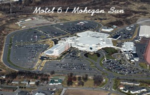 Aerial view of the new Motel 6 at Mohegan Sun in Wilkes Barre, PA. Aerial Photography at its best!