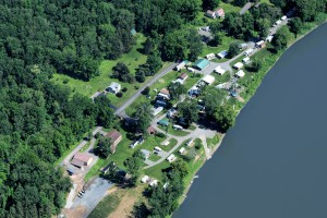 Tunkhannock Campground Aerial View Susquehanna River NE PA