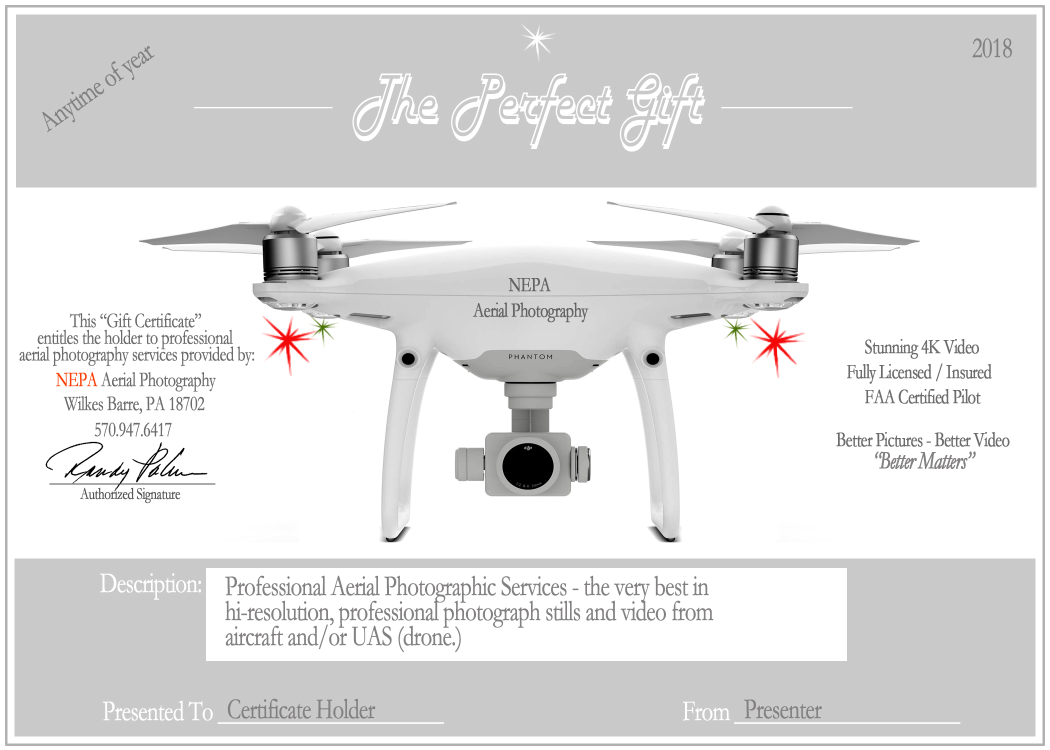 NEPA Aerial Photography_Gift Certificates_Better Matters